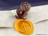 Cross Wax Seal 3d printed Cross wax seal with impression in Sunflower Yellow wax