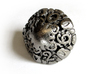 Art Nouveau Die10 3d printed In Polished Nickel Steel and inked