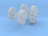 "OO Aveling Porter ""Blue Circle"" Wheels 3d printed"