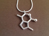 catnip molecule pendant 3d printed catnip pendant in polished silver, chain not included