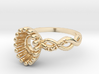 AB100 Sapphire/Diamond Ring 3d printed