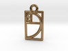 Golden Ratio Charm 3d printed