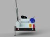 Pickup Reel Positional Truck With Crane 1-87 HO Sc 3d printed
