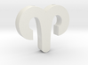 Aries Symbol Pendant 3d printed