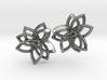 Pointset Earrings 3d printed