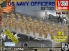 1/350 USN Officers Set001 3d printed