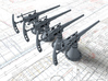 1/200 SMS Emden/Dresden 5.2 cm/55 SK L/55 x4 3d printed 3d render showing part detail