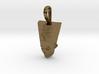 Nefertiti pendant, petite, facing forward 3d printed