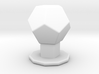 Dodecahedron on pedestal 3d printed