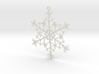 Organic Snowflake Ornament - Estonia 3d printed