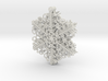 Organic Snowflake Ornaments - Stack of 6 3d printed Six snowflakes ship together attached on a post that you remove