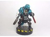 Vesk Starfinder 3d printed Painted with acrylic paints and mounted on a custom 1 inch base.
