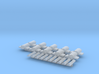Setje wisselmotoren en vrijbalken NS 1:160 3d printed