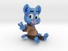 Rad blue cat 3d printed