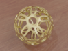 Symmetrical Pattern Sphere 3d printed Polished Gold (render)