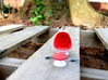 Egg Chair Dome: Red & White (1:24 Scale) 3d printed