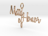 Maid of Honor Heart Pendant 3d printed