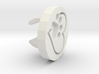 Stethoscope charm: Heart Paw  3d printed