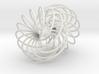 Double Spiral Torus 7/12, golden ratio 3 3d printed