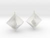 Earrings 20 squares 3d printed