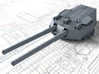"1/350 HMS Dreadnought 12"" MKX Guns x5 3d printed 3d render showing product detail"