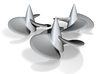 Three ship propellers for Bismarck/Tirpitz 1/200 3d printed