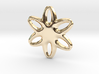 Soft star pendant or earrings 3d printed