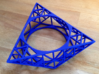 Tria Hex Raw  3d printed Tria Hex Raw in Blue Strong Flexible ( actual print