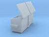 4 Yard Slant Dumpster 2 Pack 1-87 HO Scale 3d printed