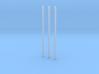 1/ 43 poteau électrique / electric pole (x3) 3d printed