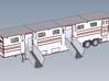 HO 1/87 Horsebox 56' Semi 03 3d printed CAD image, showing ramps fitted.