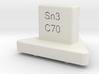 Track gage Sn3 3d printed