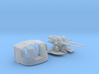 """1/72 Tribal Class 4.7"""" MKXII CPXIX Twin Mount x1 3d printed 1/72 Tribal Class 4.7"""" MKXII CPXIX Twin Mount x1"""
