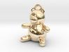 Tiny Teddy Bear w/loop 3d printed