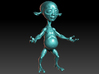 Little Alien  3d printed Rendered in Zbrush.