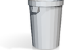 1/10 Scale 32 Gallon Trash Can 3d printed