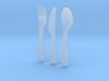 1/6 scale IKEA KALAS cutlery set 3d printed