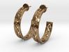 Carved Hoop Earrings 3d printed