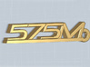 KEYCHAIN 575M 3d printed Keychain with the 575M logo, render.