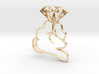 Diamond In Hand Pendant 3d printed
