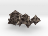 Faceted - polyhedral 6 dice set 3d printed