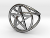 Pentacle ring - crossing 3d printed