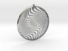 Warped Geometry Pendant 3d printed