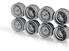 Mesh Centerlock Hot Wheels Rims 9 3d printed