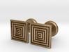 Geometric, Minimalistic Men's Square Cufflinks 3d printed