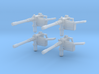 Machine guns 28mm scale for 3mm holes 3d printed