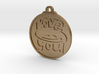 Love You face pendant 3d printed