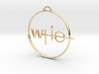 Who Pendant 3d printed