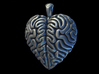 Think With Your Heart Pendant (Hollowed) 3d printed Front face of the pendant