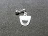 Dacia Earring fine detail 3d printed piercing barbell with Dacia logo